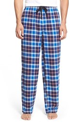 Men's Nordstrom Flannel Lounge Pants Navy Red Large Plaid