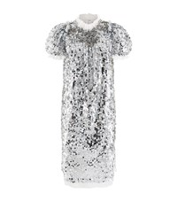 Dolce And Gabbana Sequin Embellished Shift Dress Female Silver