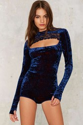 Hot As Hell Hole In One Cut Out Bodysuit Blue