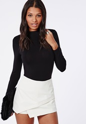 Missguided Faux Leather Skort White White