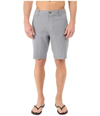 O'neill Locked Overdye Hybrid Boardshorts Steel Men's Swimwear Silver