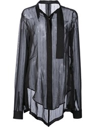 Unravel Project Glitter Stripe Tux Shirt Black