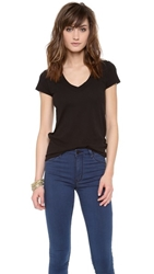 James Perse Short Sleeve V Neck Tee Black