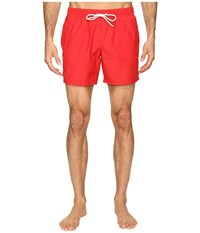 Lacoste Taffeta Swimming Trunk Bright Cherry Red White Men's Swimwear