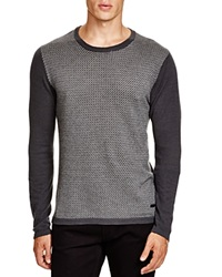 Armani Collezioni Mini Zig Zag Sweater Dark Grey
