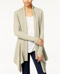 Bar Iii Ribbed Waterfall Cardigan Only At Macy's Stone