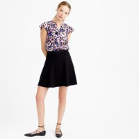 J.Crew Circle Mini Skirt In Crinkle Crepe