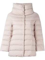 Herno Puffer Jacket Pink And Purple