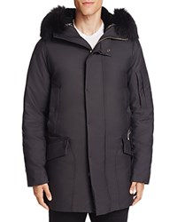 Theory Hudsongambell Hooded Puffer Coat Coal