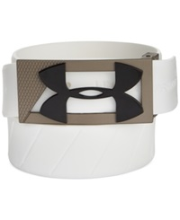 Under Armour Silicone Golf Belt White