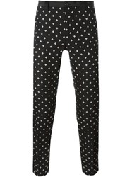 Dolce And Gabbana Jacquard Trousers Black
