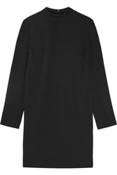 Cedric Charlier Crepe Mini Dress Black