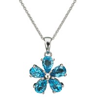 Ewa Flower Pendant Blue