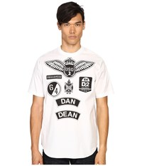 Dsquared Military Patch Popeline T Shirt White Men's T Shirt