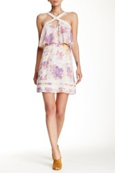 Guess Tiered Halter Dress Multi