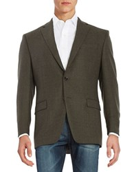 Lauren Ralph Lauren Two Button Wool Jacket Olive
