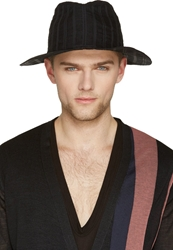 Ann Demeulemeester Black Starched Hat