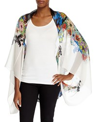 Floral Silk Shrug Wrap Multicolor Multi Colors Roberto Cavalli