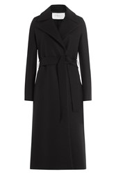 Harris Wharf London Virgin Wool Duster Coat Black