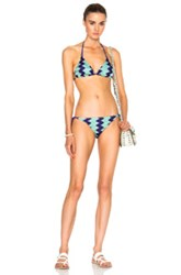 Missoni Mare Bikini In Blue Green Stripes Blue Green Stripes