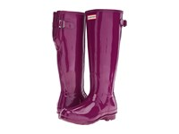Hunter Original Back Adjustable Gloss Bright Violet Women's Rain Boots Purple