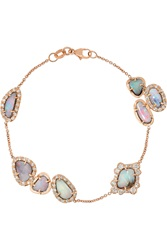 Kimberly Mcdonald 18 Karat Rose Gold Opal And Diamond Bracelet