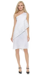 Zero Maria Cornejo Block Lace Spiral Dress White