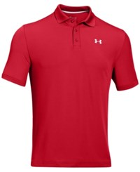 Under Armour Men's 2.0 Performance Golf Polo Red