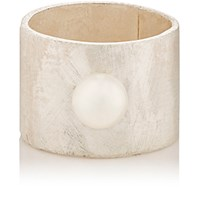 Julie Wolfe Women's Akoya Pearl And Sterling Silver Wide Band Ring No Color