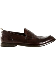 Officine Creative 'Anatomia' Penny Loafers Brown