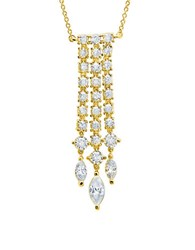 Crislu On The Red Carpet 18K Yellow Gold Finished Sterling Silver Chandelier Necklace