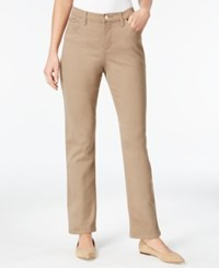 Lee Platinum Petite Gwen Classic Fit Straight Leg Colored Wash Jeans Light Fawn