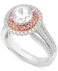 Marchesa Certified Diamond Engagement Ring 2 1 2 Ct. T.W. In 18K White Gold And Rose Gold
