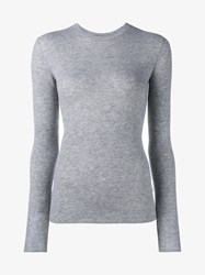 Vince Cashmere Long Sleeve Top Grey