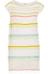 Lemlem Kedame Beehive Striped Cotton Blend Gauze Coverup Yellow