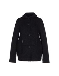 Tanomu Ask Me Coats And Jackets Jackets Women Dark Blue