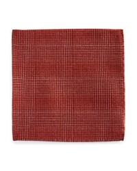 Bloomingdale's The Men's Store At Double Sided Check Pocket Square Rust Orange