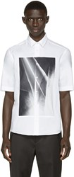Mcq By Alexander Mcqueen White Graphic Square Shirt