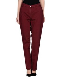 Xandres Casual Pants Maroon