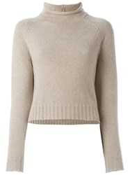 Ralph Lauren Black Label Ralph Lauren Black Funnel Neck Jumper Nude And Neutrals