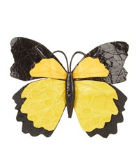 Nancy Gonzalez Butterfly Bag Clip Female Black Yellow