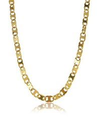 Tory Burch Core Gemini Gold Tone Metal Link Chain Necklace