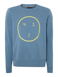 Paul Smith Graphic Crew Neck Jumper Blue