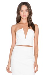 Shakuhachi Cracked 3D Bustier White