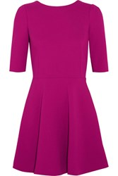 Dolce And Gabbana Stretch Wool Crepe Mini Dress Magenta