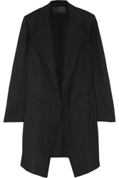 Donna Karan Stretch Wool Coat Black