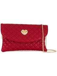 Love Moschino Quilted Envelope Clutch Bag Black