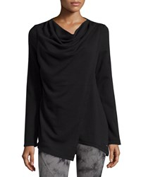 Marc New York Marc Ny Performance Yummy Asymmetric Fleece Tunic Black