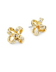 Kate Spade Stone Accented Bow Stud Earrings Gold