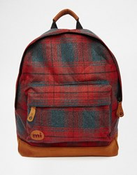 Mi Pac Plaid Red Backpack Re1 Red 1
